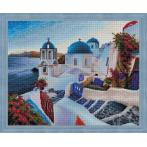 Diamond painting kit - Santorini evening