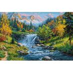 Diamond painting kit - Mountain creek