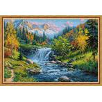 M AZ-1821 Diamond painting kit - Mountain creek