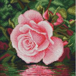 M AZ-1704 Diamond painting kit - Rose by the water