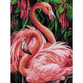 Diamond painting kit - Flamingo couple