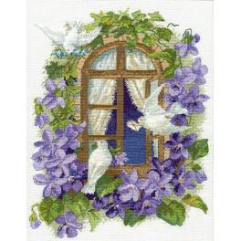 Cross stitch kit - On the wings of love
