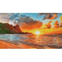 OV 917 Cross stitch kit - Golden sunset