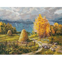 Cross stitch kit - Autumn thunderstorm