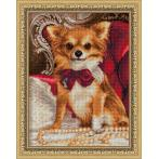 M AZ-1779 Diamond painting kit - Chihuahua with bow tie