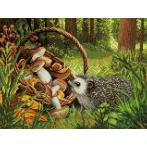 Diamond painting kit - Hedgehog in the forest