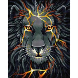 Diamond painting kit - Lava lion