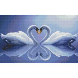 Diamond painting kit - Swans
