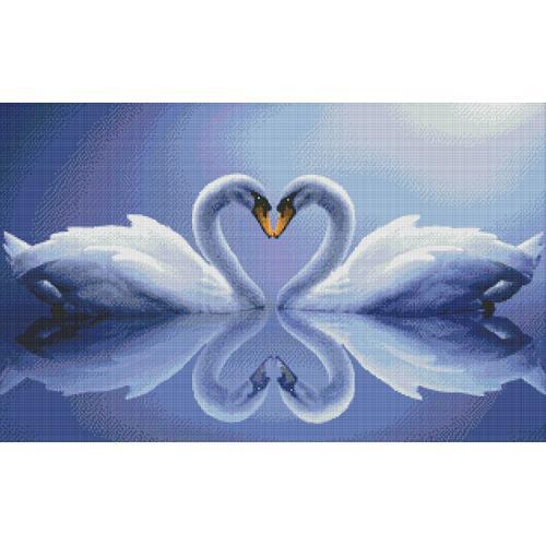 M AZ-210 Diamond painting kit - Swans
