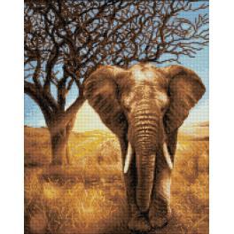 Diamond painting kit - African elephant