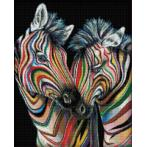 Diamond painting kit - Colourful zebras