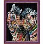 Diamond painting kit - Colourful zebras