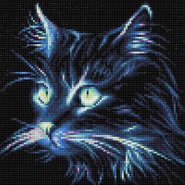 Diamond painting kit - Neon cat