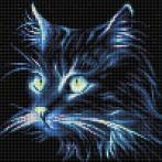Diamond painting kit - Neon cat