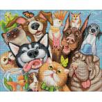 M AZ-1658 Diamond painting kit - Animal selfie