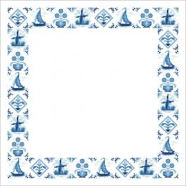 ZU 10630 Cross stitch kit with mouline and napkin - Dutch napkin