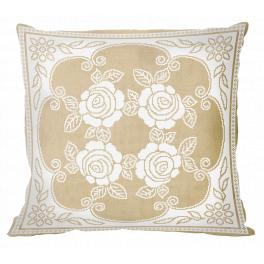 ZU 10624-01 Cross stitch kit - Pillow - Grandmother's lace