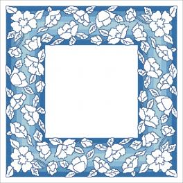 Pattern ONLINE pdf - Napkin with flowers