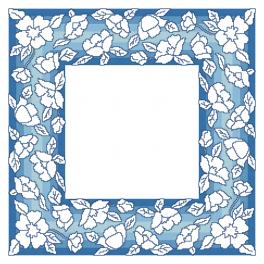 GU 10629 Cross stitch pattern - Napkin with flowers