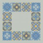Cross stitch pattern - Napkin with tiles