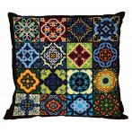 Cross stitch kit - Pillow - Colourful tiles