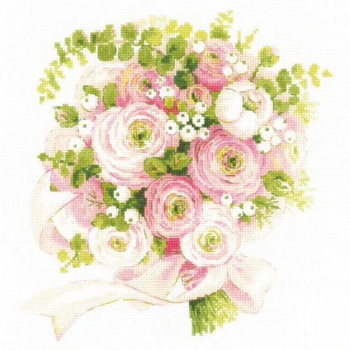 Cross stitch kit - Wedding bouquet