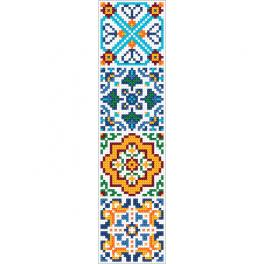 GU 10628 Cross stitch pattern - Ethnic bookmark III