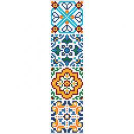 ZU 10628 Cross stitch kit - Ethnic bookmark III