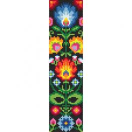 GU 10626 Cross stitch pattern - Ethnic bookmark I