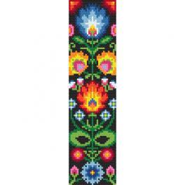 ZU 10626 Cross stitch kit - Ethnic bookmark I