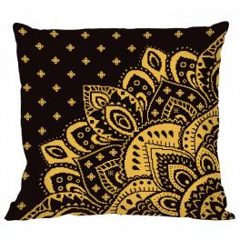 W 10623-01 ONLINE pattern pdf - Pillow with a rosette