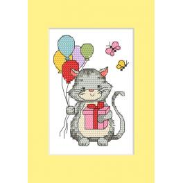 Pattern ONLINE pdf - Card - Kitten