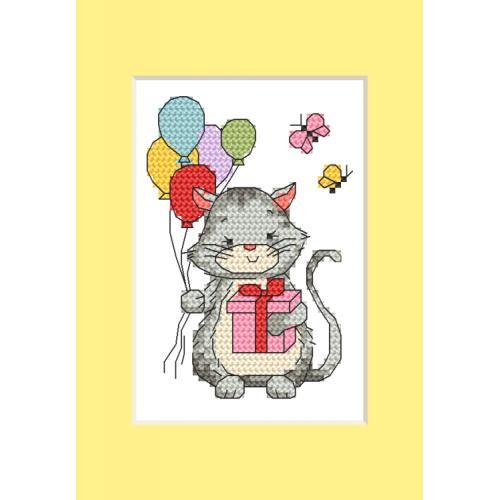 ZU 10286 Cross stitch kit - Card - Kitten