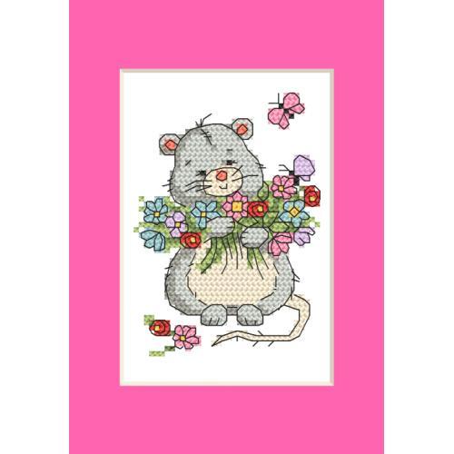 GU 10285 Cross stitch pattern - Card - Mouse