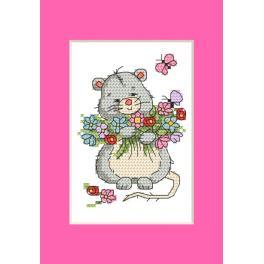 ZU 10285 Cross stitch kit - Card - Mouse