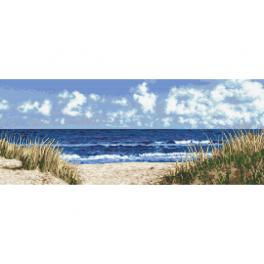 K 10283 Tapestry canvas - Sea beach