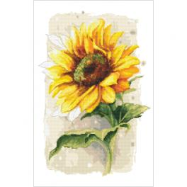 Kit with tapestry and mouline -Proud sunflower