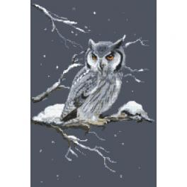 ZN 10440 Kit with tapestry and mouline - Owl - night watchman
