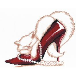 OV 279 Cross stitch kit - Red shoe