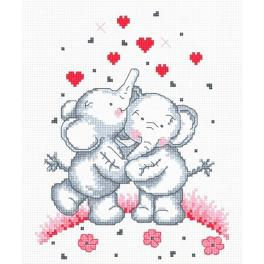 Cross stitch kit - Elephants