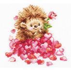 ALI 0-211 Cross stitch kit - In love