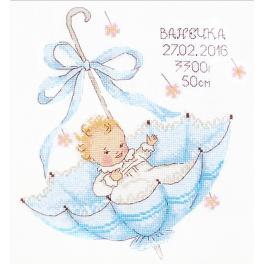 OV 966 Cross stitch kit - A little gift for a boy