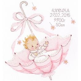OV 965 Cross stitch kit - A little gift for a girl