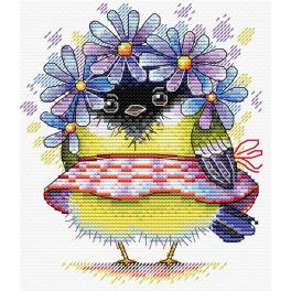 Cross stitch kit - Romantic bird
