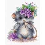 MP M-431 Cross stitch kit - Little mouse