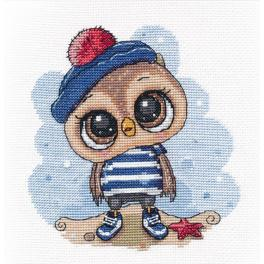 OV 1264 Cross stitch kit - Owl sailor