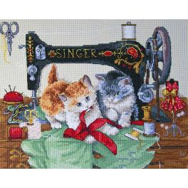 MER K-70 Cross stitch kit - Players & Singer
