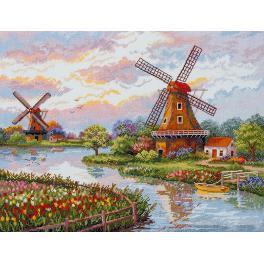 MER K-167 Cross stitch kit - Danish windmills
