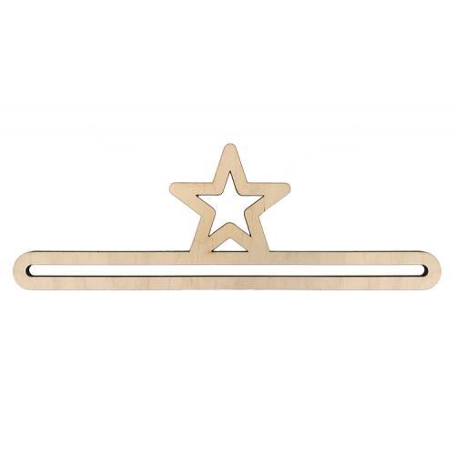Wooden hanger 25cm star