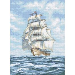 Cross stitch kit - Ship at sea